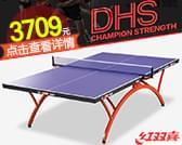 DHS/紅雙喜彩虹可折疊標準室內乒乓球臺T2828乒乓球桌