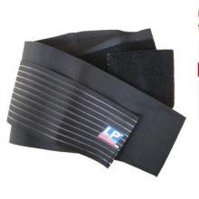 LP 护腰LP919 运动护腰带 运动护具 保暖透气 双层加压 篮球 羽毛球护具 保护 黑色