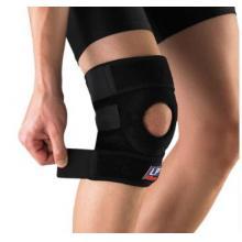 LP 护具 护膝LP758CA高效髌骨释压型膝护套 高透气健身运动复健 黑色单只装 均码