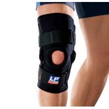 LP 710 双枢纽式钢片膝关节护具 韧带半月板髌骨脱位 黑色单只装