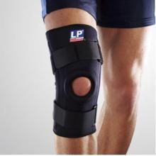 LP护具 LP709护膝 固定支撑 运动护具 保暖透气 黑色单只装