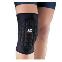 LP护具 LP577CP高效蜂巢式吸震护膝篮球网球羽毛球乒乓球运动护具 黑色单只装