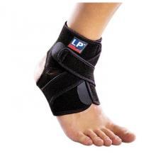 LP 护踝 扭伤防护运动护具LP757CA 双束缚 高透气性分段可调式踝束套 黑色单只装 均码
