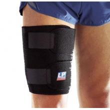 LP755护大腿运动护具单片可调节式保暖护套预防拉伤  黑色