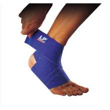 LP 護具 LP694矽膠彈性繃帶 硅膠防滑波紋彈性繃帶 人體曲線護踝繃帶 藍色...