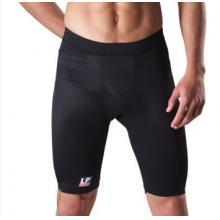 LP627 欧比护具 运动束裤 腰部拉撑带设计 透气莱卡弹性护具 黑色