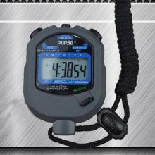 君斯达JUNSD秒表防水防震防滑2道记忆1/100秒屏幕显示(七位数)JS-505