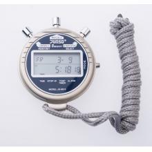 君斯达金属秒表运动计时器8道记忆双排大显示1/100秒显示环境温度JS-6610A 白色