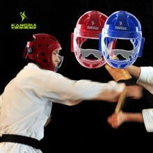 KANGRUI康瑞空手道头盔KK561 MMA面罩双节棍跆拳护头护脸散打护具