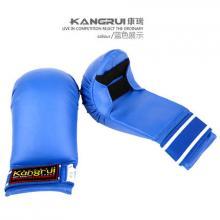KANGRUI康瑞正品空手道手套拳套 KK341 空手道半指手套男女 空手道比赛训练拳套