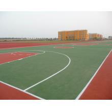 蓝球场弹性丙烯酸 弹性丙烯酸球场面层 篮球场 网球场 排球场 羽毛球场 塑胶球场