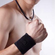 法藤Phiten护腕运动护具加厚海绵保暖透气AP168 法力藤 篮球护具