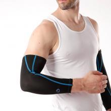 Phiten法藤 透气护肘 专业运动护具 男女运动户外 SL535 保暖防寒护臂 法力藤