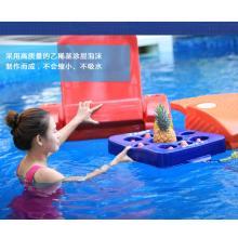 水趣水上果盘酒店别墅游泳池温泉水上盘子饮料托盘水上浮力桌