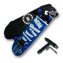 陀飞轮CRASH 滑板专业新手双翘轮滑滑板儿童四轮成人公路整板出口品质滑板车 蓝hello