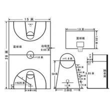 篮球场足球场 各类专业场地画线 贴胶带
