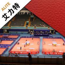 艾力特珊瑚纹4.7红色乒乓球羽毛球运动地板室内pvc卷材地胶垫加厚
