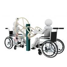 瑞动康复系列大转轮太极轮组合残疾人户外健身器材室外健身器材公园健身器材户外路径小...