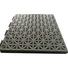 悬浮式运动地面快速拼装弹性地板 悬浮地板 米字型 篮球运动场地