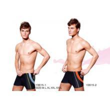 英發 Y3615 男士拼接面料拉長腿型高級平角泳褲